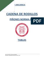 Tablas de Cadena de Rodillos