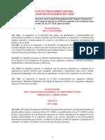 Estatuto Único Ordenado Del Colegio de Ingenieros Del Peru