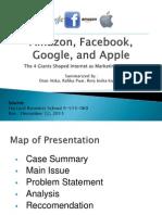 Amazon, Facebook, Google and Apple Case Study