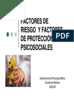 Factores de Riesgo y Factores de Proteccion Psicosociales