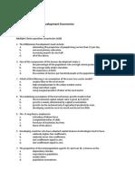 Example of an Exam, economics of development