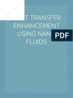 HEAT TRANSFER ENHANCEMENT USING NANO FLUIDS