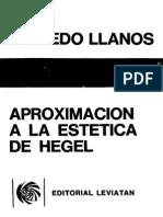 Llanos, Alfredo - Aproximacion a La Estetica de Hegel. Ed. Leviatan 1988
