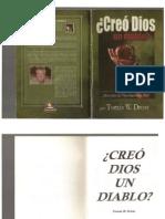 Libro Creo Dios Un Diablo (Thomas Drost)