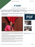 05-01-15 Diálogo Frecuente Peña Nieto-Obama, Destaca Senadora Marcela Guerra - Realidad7 Noticias