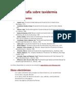 Taxidermia Bibliografía solo