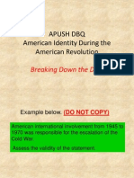 1999 DBQ (Am Identity AmRev) for Breaking Down DBQ Activity