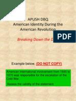 1999 DBQ (Am Identity AmRev) for Breaking Down DBQ Activity