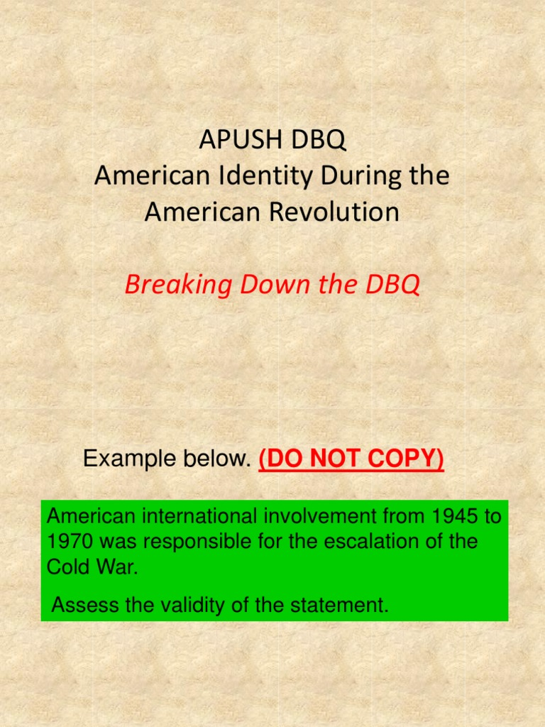 apush dbq revolutionary changes during reconstruction Apush: 2nd period review basic background information about the orporations during the gilded age explain the impact the gilded age and the changes made.