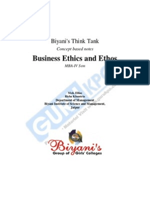 Business Ethics and Ethos | Corporate Social Responsibility