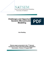 Challenges and Opportunities of Dynamic Microsimulation Modelling Ann Harding
