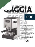 Gaggia Classic Manual