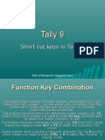 Short Cut Keys in Tally 9