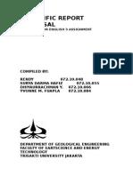 Scientific Report Proposal English 3
