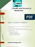 Merck case study analysis