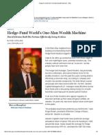 Hedge-Fund World's One-Man Wealth Machine - WSJ