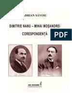 Dimitrie Nanu-Mihai Mosandrei. Corespondenta