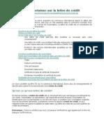 Guide de l'Exportateur Sur La Lettre de Crédit