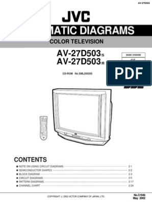 [SCHEMATICS_4FD]  Jvc Av-27d503 Ch Ge Sch | Capacitor | Resistor | Jvc K Series Circuit Diagram |  | Scribd