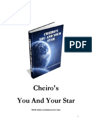 CHEIRO's NUMEROLOGY - You And Your Star pdf | Astrology | Horoscope