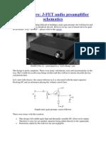 HotFET Pre J-FET Audio Preamplifier Schematics