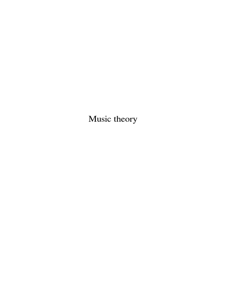 Music Theory Wiki Musical Scales Harmony