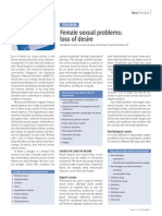 Female Sexual Problems Loss of Desire