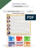 Ficha de Trabalho 7º - El Sistema Educativo Español