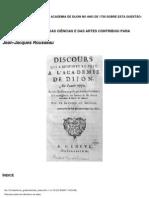 Jean-Jacques Rousseau - Discurso sobre as ciencias e as arte