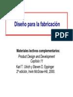 Diseño Para La Fabricacion