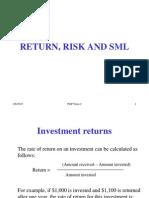 Risk Return Part 1