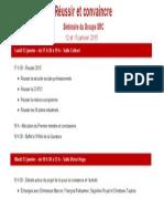 Le programme du séminaire de rentrée des députés PS