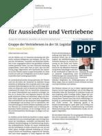 Newsletter für Aussiedler, Vertriebene und deutsche Minderheiten, Dezember 2014