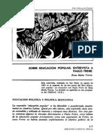 Torres Rosa María Entrevista a Paulo Freire