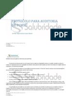 Protocolo Para Auditoria de Pcmso - Salubridade