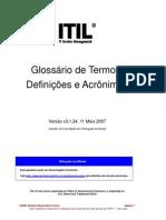 itil Glossario de Termos Definicoes e Acronimos