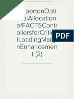ReportonOptimalAllocationofFACTSControllersforCriticalLoadingMarginEnhancement (2)