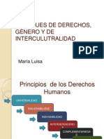 Enfoques de Derechos, Género y de Interculutralidad