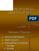 Letters of Credit Under Ucp 600