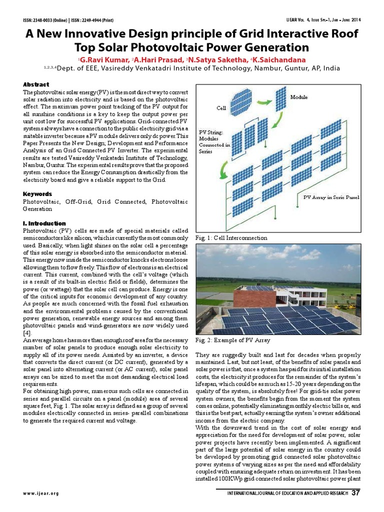 Solar Pv Design Photovoltaic System Photovoltaics Power Panels Or Cells In Parallel Circuits