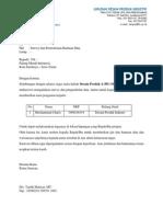 Surat Survey Despro Baru