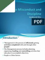 Employee discipline/ misconduct