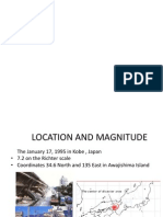 Earthquarke in Kobe, Japan in 1995