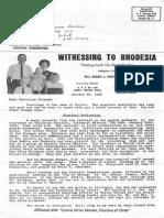 Nutt Ziden Helen 1968 Rhodesia (Zimbabwe)