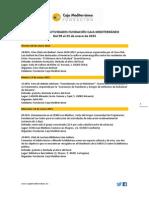 Agenda de Actividades Destacadas. Del 09 al 25 de enero 2015. Fundación Caja Mediterráneo