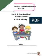 child study booklet brief