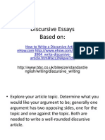 Discursive Essays (1)