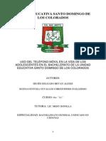 Unidad Educativa Santo Domingo de Los Colorados Monografia