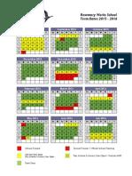 Term Dates Calendar 2015 - 2016