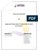 Report on Film & T.v Industry